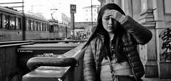 Nearly offered her a paracetamol!! (Baz 120) Tags: candid candidstreet candidportrait city contrast street streetphoto streetcandid streetportrait strangers rome roma ricohgrii europe women monochrome monotone mono noiretblanc bw blackandwhite urban life legs portrait people provoke italy italia grittystreetphotography faces decisivemoment