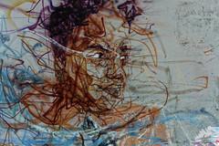 Portrait (Edgard.V) Tags: paris parigi street art urban urbano arte callejero graffiti mural portrait retrato ritratto portraiture male profil profile profilo