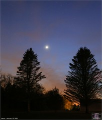 Venus in the Western Sky (The Dark Side Observatory) Tags: canon canon6d venus planet sky color trees silhouette blue orange sunset astronomy weatherly pennsylvania observatory tomwildoner solarsystem tripod