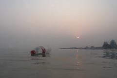 Bushfire sunrise, Rye. (briandeakin1) Tags: rye bushfire beach sunrise polution