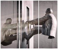 Together (michael_hamburg69) Tags: hamburg germany deutschland sculpture skulptur male men männer man leowirth miteinander 2001 bildhauer sculptor künstler artist monochrome kunst art helmag together nordkanalstrasse28