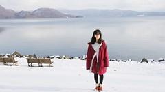 SAKURAKO stands by the Lake TOYA (MIKI Yoshihito. (#mikiyoshihito)) Tags: laketoya lake toya sakurako 櫻子 さくらこ 娘 daughter サクラコ 長女 11歳3ヶ月