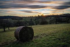 Sunrise over hills (Deepmike70) Tags: sunrise landscape kämpfelbach kã¤mpfelbach trees nature clouds dawn hills fields gras sky