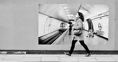 Underground, Overground . . (jaykay72.) Tags: london uk street candid streetphotography kingwilliamstreet stphotographia blackandwhite bw