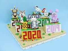 Year of Rat. (vincentkiew) Tags: vincentkiew moc dog goat monkey roaster pig lego lunar lny zodiac 12chinesezodiac rat 2020