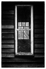 Hint of Bicycle (Keith Midson) Tags: cabin barn tasmania handlebars bicycle window windows