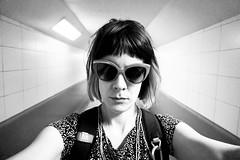 014/366: (self-portrait) at the end of the tunnel (Fille.de.Lumière) Tags: selfstudy selfie selfexpression selfportrait self monochrome blackandwhite blackwhite portrait 366 365 project366 project365