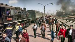 Tiefa Train (channel packet) Tags: china steam train locomotive sy tiefa diaobingshan transport passengers railway railroad station platform davidhill