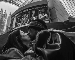 Mummers Parade on New Years Day, 2020 (Alan Barr) Tags: philadelphia kimmelcenter mummer mummersparade mummers newyear costume street sp streetphotography streetphoto blackandwhite bw blackwhite mono monochrome candid city people panasonic gx9