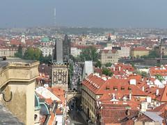 Praha 1-Malá Strana (1-Pra-0707p) (Milan Tvrdý) Tags: prague praha1 czechia czechrepublic stnicholaschurchonmalástrana chrámsvmikulášenamaléstraně věž tower charlesbridge karlůvmost