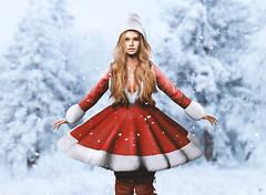 Let it snow (meriluu17) Tags: tetra sintiklia lelutka foxcity snow snowing winter seasion joy happy letitsnow snowflakes snowflake red cute happines people portrait