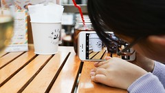 SAKURAKO - instagrammable? (MIKI Yoshihito. (#mikiyoshihito)) Tags: 2019 japan hokkaido sapporo instagrammable インスタ映え sakurako 櫻子 さくらこ 娘 daughter サクラコ 長女 11歳2ヶ月 eldestdaughter iphone6s outdoorcafemeerlounge outdoor cafe meerlounge ミールラウンジ
