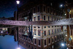 ALTERNATIVE WORLD (Fredrik Lindedal) Tags: reflection reflections streetview street streetvision streetart streetsvision sweden sverige puddle puddlegram water gothenburg göteborg visualcreative