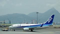 All Nippon Airways Boeing 737-700 JA06AN - Hong Kong (Neil Pulling) Tags: hongkong hongkongairport airport hk transport airliner allnipponairways boeing 737700 ja06an