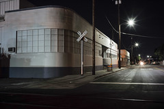 Deco corner RR Xing (ADMurr) Tags: la eastside industrial night rr deco corner leica m240 35mm zeiss zm biogon m00051591