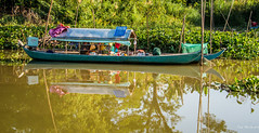 2019 - Vietnam-Avalon-Long Khanh A - 36 (Ted's photos - Returns Early February) Tags: 2019 cropped mekongriver nikon nikond750 nikonfx tedmcgrath tedsphotos vietnam vignetting boat reflection waterreflection sampan