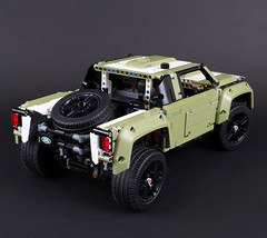 "Stadium Truck - Land Rover Defender Lego Technic 42110 B Model (""grohl"") Tags: grohl666 milanreindl building function feature technic designer alternate supercar car vehicle build alternative tutorial instructions construction machine race racing racecar stadiumsupertruck shortcoursetruck sst truck stadiumtruck 42110 v8 casterangle 4link suspension gearbox authentic offroad terrain steering travel"