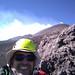 With helmet, sheltering below the measurement site