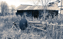 Cast aside (Wicked Dark Photography) Tags: wisconsin abandoned autumn decay derelict fall farm machinery rural saw