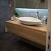 Modern design bathroom sink with fancy interior