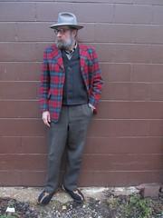 1-14-2020 Today's Clothes (Michael A2012) Tags: this mans winter style vintage fashion portis fedora hat fur felt dunn harris tweed wool filson mackinaw vest ll bean cotton kumla konfektions boiled flight boots