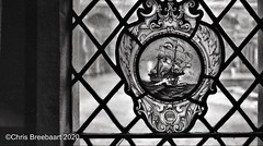 Historical window 1980 (Chris Breebaart) Tags: england chester pentaxk1000 ilfordfp4