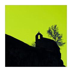 Chapelle Saint-Roch (Jean-Louis DUMAS) Tags: eglise church chapelle puycelsi tarn abstract abstrait abstraction couleur color vert green square carré