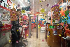 Barber shop (kuuan) Tags: tokinaf3517mm 17mm tokina mf manualfocus tokinarmc tokinarmcf3517mm a7 sonya7 ilce7 sony saigon street architecture hcmc vietnam saloon colorful phường1quan3 barber hairsaloon