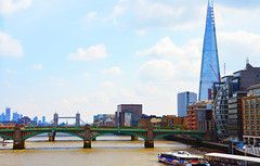 The Thames (angelsgermain) Tags: river thames water buildings architecture theshard bridges soutwarkbridge towerbridge boats façades sky clouds thecity soutwark london unitedkingdom uk