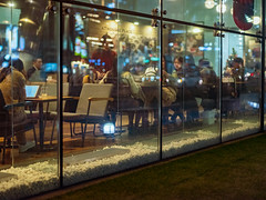 1951/1719:z (june1777) Tags: snap street alley seoul night light bokeh fujifilm gfx 50r mamiya 645 80mm f19 3200 euljiro cafe window adcn vin9