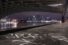 Under the Bridge (Sean Hartwell Photography) Tags: london southbank night riverthames cityoflondon bridge graffiti