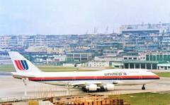 UA at Kai Tak (Gerry Rudman) Tags: united airlines boeing 747422 n188ua hong kong kai tak runway13