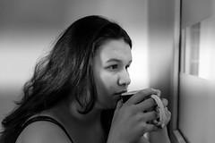 Silvia (BenoitGEETS-Photography) Tags: actress actrice theatre théâtre theater belgium noiretblanc nb nikon bw bn café coffee regard blackwhite