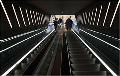 up & down (leuntje) Tags: groningen netherlands forum architecture escalator