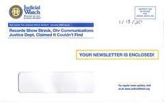 Judicial Watch envelope (Judith E. Bell) Tags: junk mail elderly elderabuse predatory scam spam fake fundraiser charities