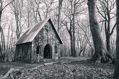 Chapel in the woods (michael_hamburg69) Tags: lostplace offthemap abandonedplace urbanexploration urbex chapel kapelle sakralbau monochrome