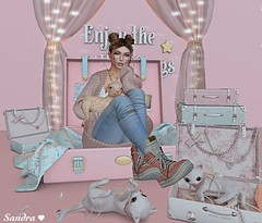 Enjoy the little things in life. (ღ Sandra Jupiter ღ) Tags: pink secondlife sl avatar skin pumec doux ison blueberry mandala addams yummy valekoer catwa magika cute