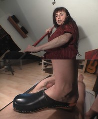 under feet with clogs (IRENE BECKE 1964) Tags: german milf clogs woodenclogs swedenclogs