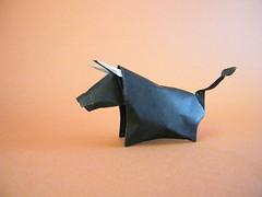 Toro de lidia - Guillermo Willie García (Rui.Roda) Tags: origami papiroflexia papierfalten touro taureau bull toro de lidia guillermo willie garcía