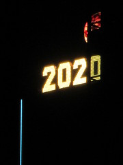 2020 Number One Times Square Building 4294 (Brechtbug) Tags: 2020 number one times square building with light bulb sign top waterford crystal ball back its pole new york city years eve 01132020 billboard advertisement decade january