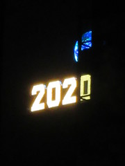 2020 Number One Times Square Building 4292 (Brechtbug) Tags: 2020 number one times square building with light bulb sign top waterford crystal ball back its pole new york city years eve 01132020 billboard advertisement decade january