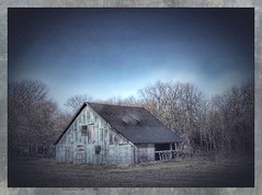 A touch of silver.... (Sherrianne100) Tags: silver weathered barn ozarks missouri winter