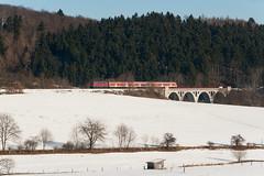 Rhena (Nils Wieske) Tags: hessen kurhessenbahn uplandbahn upland baureihe 218 387 db regio schnee bahn rhena viadukt brücke zug züge eisenbahn train railway