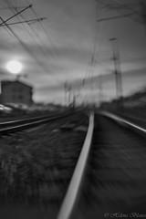 Riktning... (hajlana) Tags: tracks sweet35 lensbaby blackwhite