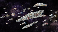 Rebel Fleet (ky-eeeee) Tags: lego ldd starwars digital render rebels rebellion fleet ships ship