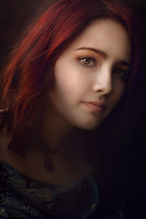 Cambria ({jessica drossin}) Tags: jessicadrossin portrait naturallight eyes close up face portraiture pretty red hair redhead wwwjessicadrossincom