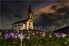Abendhimmel (bzphotographie) Tags: slovenia visitslovenia kirche bau architektur abendrot