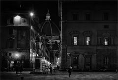 Postcards from Florence [32] (bafdias) Tags: fujifilmxpro2 florence bw monochrome landscape night yashicaml50mmf14