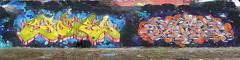 Graffiti in Amsterdam (wojofoto) Tags: amsterdam nederland netherland holland ndsm noord graffiti streetart wojofoto wolfgangjosten 2020 spoce spocey dusk