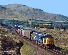 Thunder In The Glens (chrissyMD655) Tags: west highland class 37 37407 br large logo scotland bridge of orchy